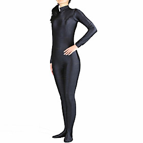 Zentai Suits Cosplay Costume Ninja Zentai Cosplay Costumes White Black Solid Leotard/Onesie Zentai Spandex Lycra Unisex Christmas 4880635