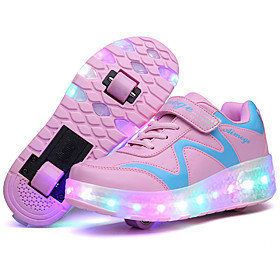 Kid Boy Girl wheely's Roller Shoes / Ultra-light Two Wheel Skating LED Light Shoes / Athletic / Casual LED Shoes Blue Pink