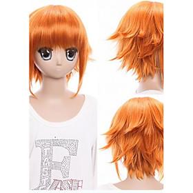 Cosplay Suits Cosplay Cosplay Orange Short Anime Cosplay Wigs 32cm CM Heat Resistant Fiber Unisex