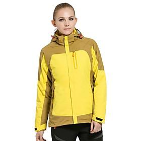 Image of Women Outdoor Sports Winter Coat Fashion Soft Shell Jacket Hiking Cimbing Ski Clothing Fleece Jackets (1PCSJacket Soft Jacket 1PCS Fleece Jacket)