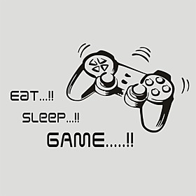 AYA DIY Wall Stickers Wall Decals Eat  Sleep  GAME PVC Wall Stickers 5042cm 5391828