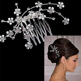 Bride's Plum Blossom Wedding Hair Accessories Tiaras Hair Combs 1 Pieces