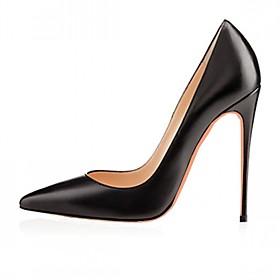 Women's Patent Leather / Microfiber Spring / Summer Comfort / Slingback Heels Stiletto Heel Pointed Toe Rhinestone / Bowknot White / Black / Red / Wedding / Pa
