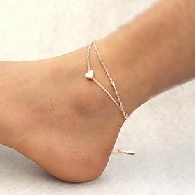 Women's Anklet Heart Ladies Fashion Anklet Jewelry