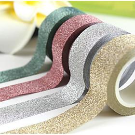 Image of 1.5cm20M DIY Self-adhesive Glitter Washi Paper Tape Sticker Wedding Birthday Festival Decoration Home Decor