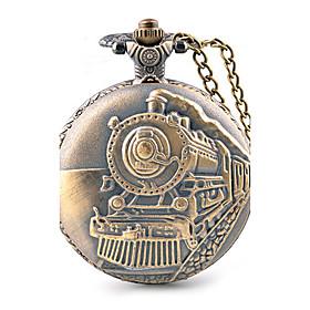 Men's Pocket Watch / Large Dial Quartz Alloy Band Casual Brown 5440640