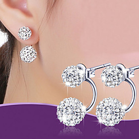Stud Earrings Ball Earrings Alloy Classic Silver Purple Jewelry Wedding Party Daily 1 pair