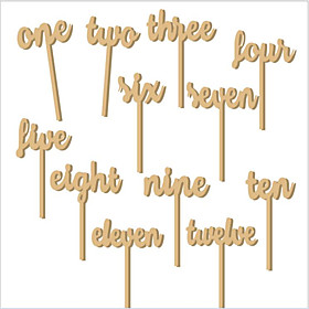 Wood Wedding Decorations-12Piece/Set Non-personalized