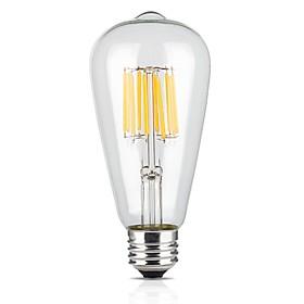 12W E26/E27 LED Filament Bulbs ST64 12 COB 1000 lm Warm White AC 220-240 V 1 pcs