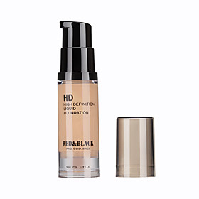 Foundation Matte Liquid Moisture / Coverage / Oil-control / Long Lasting / Concealer / Waterproof / Uneven Skin Tone / Natural Face