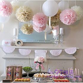 15pcs Mixed Size 6810(15cm20cm25cm) Tissue Paper Pom Poms Ballendly Material Wedding Decorations