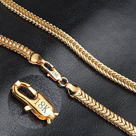 Necklace Chain Necklaces Jewelry Wedding Party Daily Casual Christmas Gifts Fashion Gold Women Men 1pc Gift Gold