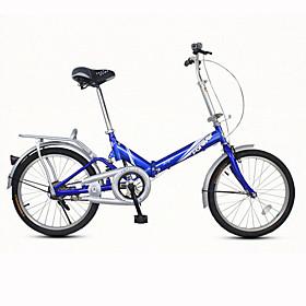 Biciclette pieghevoli Ciclismo 7 Velocità 20 pollici Unisex / Da uomo / Da donna Freno a V Semplici Ripiegabile Semplici AcciaioBlu /