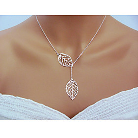 Necklace Statement Necklaces Jewelry Wedding / Party / Daily / Casual Leaf Adjustable Silver / Sterling Silver Women 1pc GiftGold /