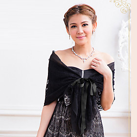 Chiffon Lace Party Evening Casual Wedding Wraps Shawls Shawls