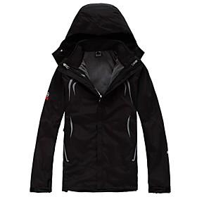 Image of Men Outdoor Sports Winter Coat Fashion Soft Shell Jacket Hiking Cimbing Ski Clothing Fleece Jackets (Jacket Soft Jacket Fleece Jacket)