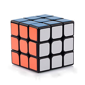 Yongjun Smooth Speed Cube 333 Speed / Professional Level Magic Cube Black Smooth Sticker Guanlong Adjustable spring ABS