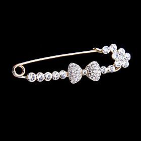 Wedding Style Elegant Silver Plated Rhinestone Brooch Elegant Style