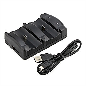 Dual USB Charging Dock for PS3 Wireless Controller (Black)
