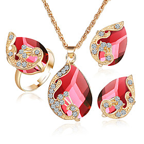2017 Jewelry Sets 5 Color Crystal Peacock Jewelry Sets Bride Wedding Necklac..