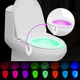 BRELONG Upgraded Waterproof UV Sterlization Light Sensor Human-induced Color Change Toilet Light