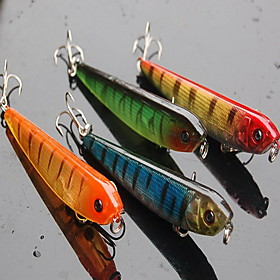 "Image of 1 pcs Hard Bait / Fishing Lures Hard Bait Assorted Colors 9 g/1/3 oz. Ounce mm/3-1/2"" inch,Hard Plastic Bait Casting / General Fishing"