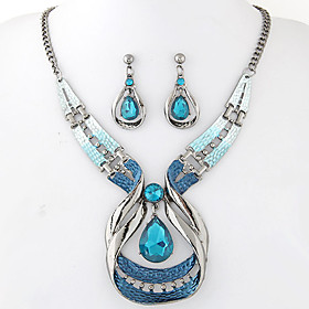Women's Jewelry Set - Resin Drop European, Fashion, Elegant Include Drop Earrings Pendant Necklace Blue For Party Special Occasion Anniversary
