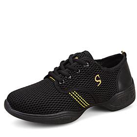 Non Customizable Women's Dance Shoes Fabric Fabric Jazz / Dance Sneakers / Modern Flats / Sneakers Flat HeelPractice / Professional /