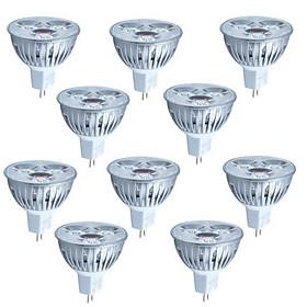 10pcs 3W MR16 260LM Light LED Spot Bulb(12V)
