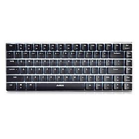 AJAZZ Geek AK33 USB Wired Mechanical Keyboard Gaming Keyboard Mini Size Programmable White Backlit 82 pcs Keys