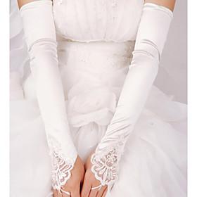 Elastic Satin Elbow Length Wedding/Party Glove