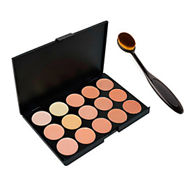 Foundation BB Cream Makeup Brush Tool15 Colors Contour Face Cream Makeup Concealer Palette