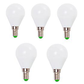 7W E14 / E26/E27 LED Globe Bulbs G45 12 SMD 2835 800 lm Warm White / Cool White Decorative V 5 pcs