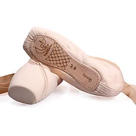Non Customizable Women's Dance Shoes Canvas Canvas Ballet Flats / Full Sole Flat HeelPractice / Beginner / Professional / Indoor /