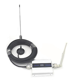 LCD Display Mini GSM 900MHz Mobile Phone Signal Booster , GSM Signal Repeater   Antenna with 10m Cable