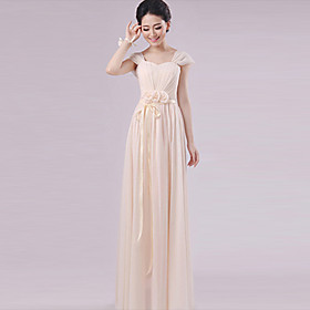 Floor-length Chiffon Mix Match Sets Bridesmaid Dress - Sheath / Column Halter / One Shoulder / Strapless / Sweetheart / V-neck / Straps