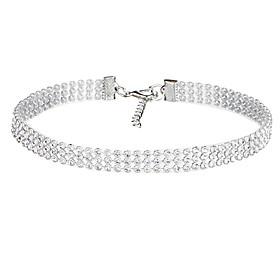 Hot Sale 2017 New Fashion Elegant Women Crystal Rhinestone Collar Necklace C..