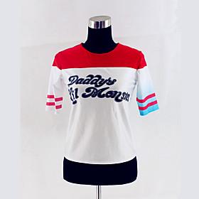 Super Hero Harley T-shirt Cosplay Halloween Costumes Cosplay T-Shirt Quinn Movie Cosplay 5117160