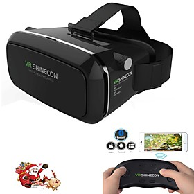 Virtual Reality Headset VR Shinecon 3D Movie Game Glasses for Smartphone whi  Remote Gamepad 5470027