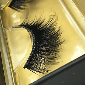 3D Eyelashes lash Full Strip Lashes Eyes Thick Lifted lashes Volumized Handmade Fiber Others 0.07mm 14mm