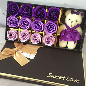 DIY Artificial flowers home decoration soap with box s romantic valentine's day wedding bouquet is a birthday present 5514211