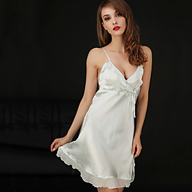 Women Polyester/Silk/Spandex Babydoll  Slips/Chemises  Gowns/Robes/Satin  Silk/Ultra Sexy Nightwear