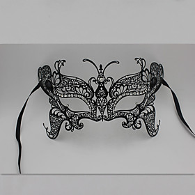 Butterfly Metal Laser Cut Venetian Masquerade Mask with Rhinestones3013A1 5514198
