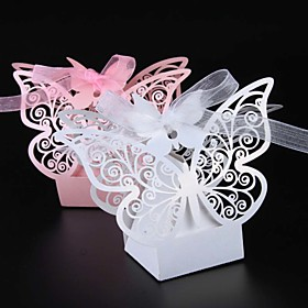 50 Piece/lots Butterfly Laser Cut Wedding Candy Box Party Favors Box Baby Shower Lovely Candy Box 5531285