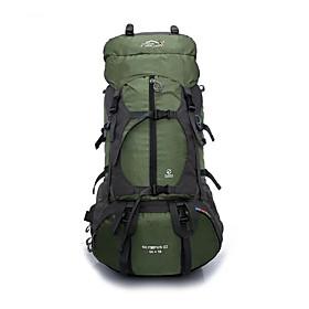 Hiking Backpack Rucksack 60 L - Waterproof Breathable Rain Waterproof Outdoor Camping / Hiking Hunting Climbing Terylene Mesh Nylon Orange Red Yellow