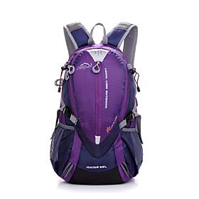25 L Hiking Backpack - Waterproof, Rain-Proof, Moistureproof Outdoor Camping / Hiking, Hunting, Climbing Terylene, Mesh, Nylon Red, Purple, Yellow