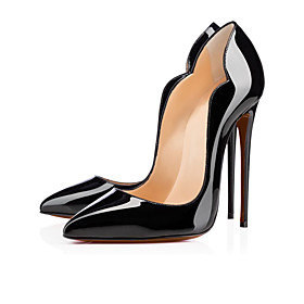 Women's Heels Spring Summer Fall Patent Leather Office  Career Casual Party  Evening Stiletto Heel Black 5514645