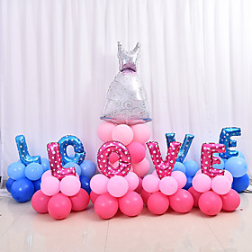 4PC 40Inch Random Color Solid color heart shape balloon aluminum foil balloons marry wedding decoration valentine heart shape balloons wholesale 5527415