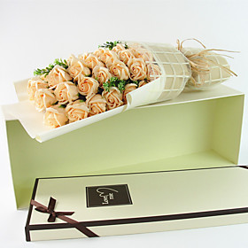 DIY Artificial flowers home decoration soap with box s romantic valentine's day wedding bouquet is a birthday present 5527399
