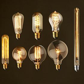 ретро старинные E27 художественный лампы накаливания лампы накаливания 40w пром